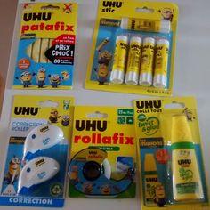 Aujourd'hui, mercredi jour des enfants et du bricolage. C'est donc UHU qui sera le partenaire du jour. Et les minons sont à l'honneur. Je vous ai montré quelques idées de bricolage que nous avions réalisé avec la colle UHU par ici LOT: 1 ensemble de produit...