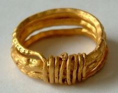 Anglo Saxon wire wrap finger rings | Late Anglo-Saxon period. The ring is of a type that is associated with ...