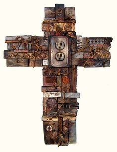 Chad Davis Visual Defects Jesus Was Poor No. 3 Mixed Media Assemblage 2011