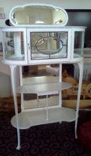 Shabby Chic VANITY MAKEUP JEWELERY BOX CURIO CABINET Showcase Pastry STAND