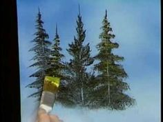 Image result for diy trees wall mural paint happy little trees ala bob ross