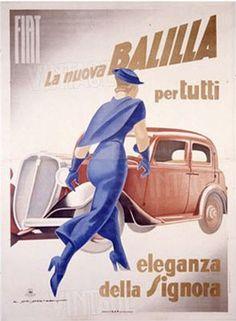 Vintage Italian Posters ~ #illustrator #Italian #posters #vintage ~ Fiat, la Nuove Balilla  IFHN