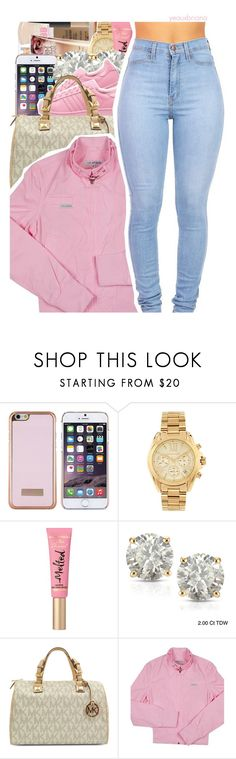 """""""948   that's what i like"""" by yeauxbriana ❤ liked on Polyvore featuring Ted Baker, Michael Kors, Too Faced Cosmetics, Auriya, adidas Originals and Members Only"""