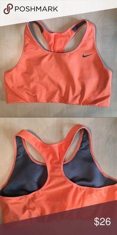 Nike Dri-Fit Sports Bra Athletic a Fitness Gym Nike Dri-Fit Sports Bra -Orange Mesh Back  -E- Nike Intimates & Sleepwear Bras