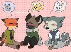 Manga Anime, Anime Fnaf, Fandom Crossover, Anime Crossover, Arte Do Kawaii, Manga Story, Cute Animal Drawings Kawaii, Cartoon Crossovers, Anime Furry