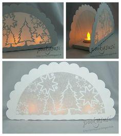 Pookysusi´s Planet: Freebie SVG DIY Exquisite tea light holder luminary with winter scene Mehr