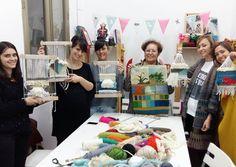 Pero que bonitos tapices chicas!!  #tejer #telar #diyordie #diy #craft…