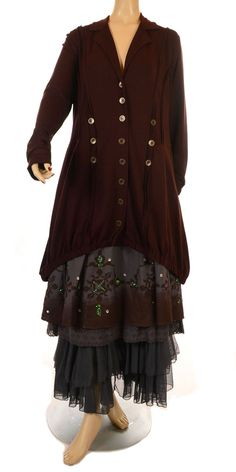 Love the skirt... that top with it... I'm not so sure. Rimini Beautiful Grey & Maroon Lace Trim Sequin Skirt