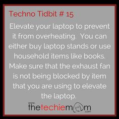 Techno Tidbit #15 Elevate your laptop