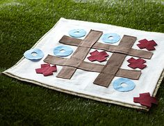 Classic Game Blankets – Everyone loves the classics—checkers, hopscotch, tic-tac-toe. Whether you're hanging out in the den or headed out to the park for a picnic, you can strike up a game in an instant with portable, extra-large playing boards. Summer Crafts For Kids, Diy For Kids, Kids Crafts, Craft Projects, Sewing Projects, Summer Fun, Sewing Ideas, Craft Ideas, Home Made Simple