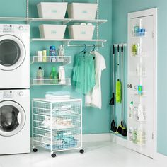 I want to do my entire house in organizational wonderfulness. Elfa Laundry Room Organization from The Container Store.
