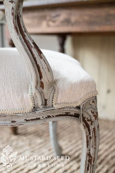 reupholstering a French chair | part 5 | upholstering the chair | Miss Mustard Seed