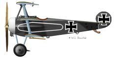 Fokker Dr.I - 1917 Fokker Dr.I Jasta12, Aerodrome Toulis,1917
