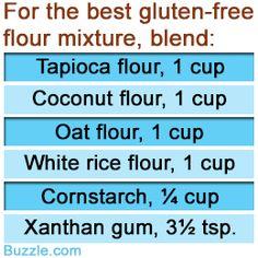 Ingredients to make gluten free flour  mixture