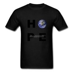 870d69c9 Unique Short Sleeve Hope Earth T Shirts Cool Male Earth Day Cotton Big Size T  Shirt
