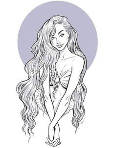 28+ Ideas Hair Drawing Reference Underwater For 2019 #hair #drawing