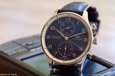 IWC Portuguese Chrono Auto Laureus edition, 2006. First in the Laureus Sport for Good series. Blue dial. Good watch for great cause.