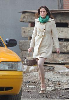 """Leighton Meester Photos - Stars On Set Of """"Gossip Girl"""" In Brooklyn - Zimbio"""