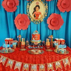 Elena de Avalor (Festa) Princess Elena of Avalor (Party) Elena 1st Birthday Themes, 10th Birthday Parties, Kids Party Themes, Birthday Numbers, Birthday Decorations, Girl Birthday, Birthday Ideas, Party Ideas, Princess Elena Of Avalor