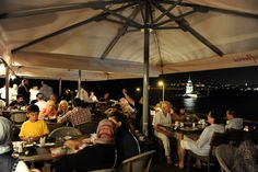 Guests dining at the restaurant...