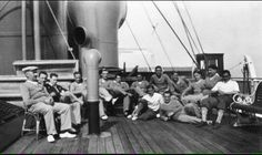 French national team onboard the SS Conte Verde to attend the World Cup in Uruguay in 1930
