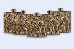 SEVEN Mossy Oak Camo Mossy oak flask set groomsmen by RKGrace, #wedding #flask #groomsman