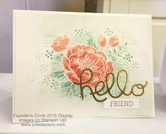 Stampin' Up! Birthday Blooms Card: 2016 Occasions Catalog Sneak Peek #stampinup www.juliedavison.com