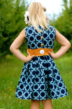 Retro-Modern Party Dress for girls -I want this in the adult version!