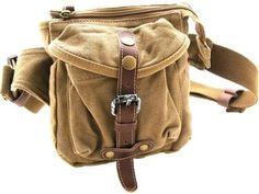 "Vagabond Traveler Stylish 6.5"" Small Canvas Waist Bag  Khaki - via eBags.com!"