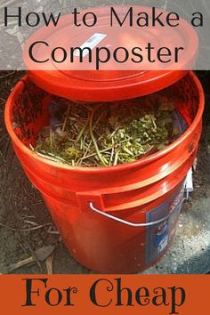 There's no need to spend hundreds on something that's going to store rotting produce! Make your own composter for just a few bucks.