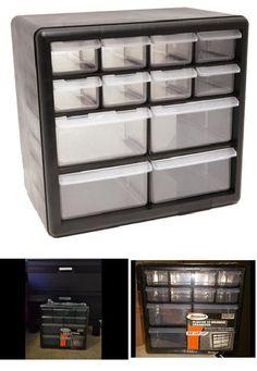 Storage Organizer Bin Box 12 Drawer Parts Organizer Plastic Cabinet  Container #HomakManufacturing