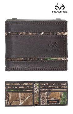 Realtree Camo Men's Leather Bifold Wallet $14.99  http://goo.gl/GxfIld  #Realtreecamo #camowallet