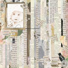 Sepia Sparkleheart using the beautiful mixed midea digital scrapbooking kit Jane - Collab at Pixel Scrapper