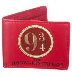 Portefeuille De Plateforme 9 Et 3/4 Rouge Harry Potter : TruffleShuffle.com