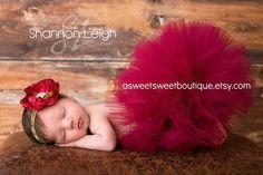 Newborn Tutu Sweet Cranberry Tutu Newborn by ASweetSweetBoutique