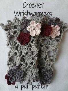 PDF Crochet Pattern Wrist warmers crocheted wrist by sewella