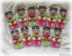 Новогодняя лепка из соленого теста (37) (700x542, 354Kb) Christmas Time, Christmas Ornaments, Salt Dough, Cold Porcelain, Crafty, Holiday Decor, How To Make, Home Decor, Modeling