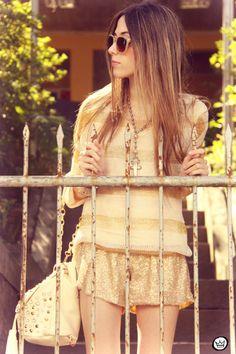 Metallic Golden Sequin Shorts