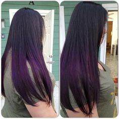 purple hair ombre