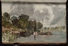 Turner, Barges on the Thames Richmond_Isleworth_Kew Area 1805