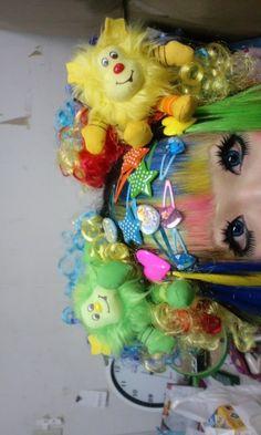 Rainbow Brite (Sprite) pigtails.
