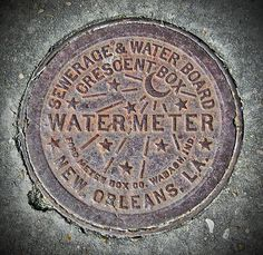 Iconic and historic NOLA water meter cover.