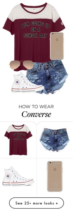 """""""Untitled #347"""" by whalesandprints on Polyvore featuring Converse, Ray-Ban and Agent 18"""
