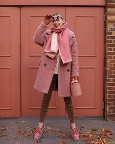 Bundled up in pink and leopard on Atlantic-Pacific // Blair Eadie casual sunday style files