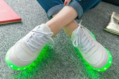 Clean The Streets With These Colorful Light Up Shoes!