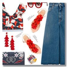 """""""Casual"""" by drigomes ❤ liked on Polyvore featuring Johanna Ortiz, MM6 Maison Margiela, Charlotte Olympia, Dsquared2, Thierry Lasry, BaubleBar and Tory Burch"""