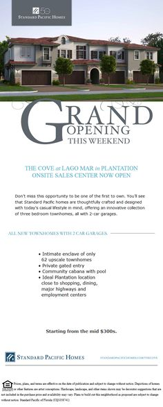 The Cove at Lago Mar in #Plantation building beautiful new construction #townhomes. Bit.ly/homebuilders