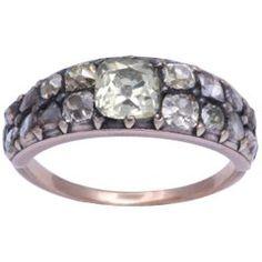 18th Century Georgian Diamond Ring Antique Rings, Antique Jewelry, Vintage Jewelry, Crystal Jewelry, Silver Jewelry, Jewelry Rings, Jewelry Watches, Jewellery, Sterling Silver Rings