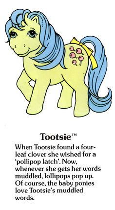 My Little Pony Tootsie fact file ...