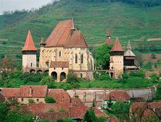 Roumanie : Kirchenburg Birthälm - Église fortifiée de Biertan, Transylvanie.